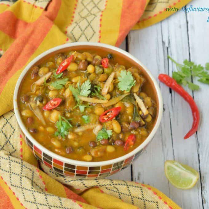 Pancharatna channa – (mixed legume stew)
