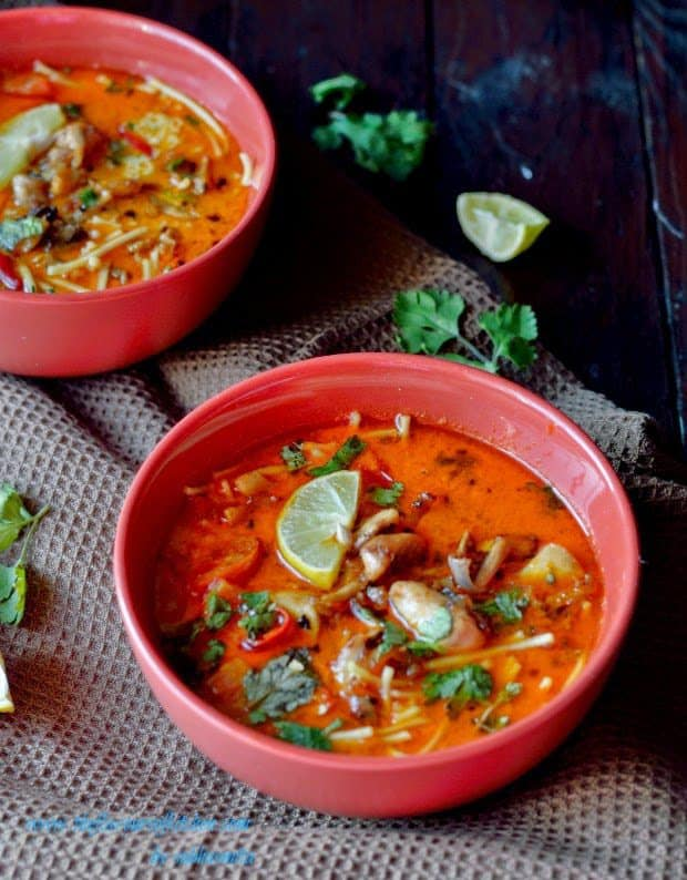 Thai chicken noodle soup & basic chicken stock