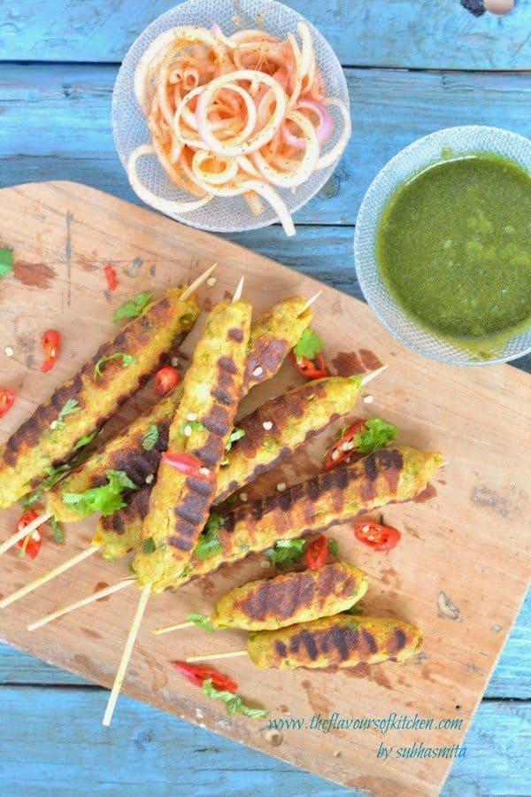 Shahi vegetable seekh kebab