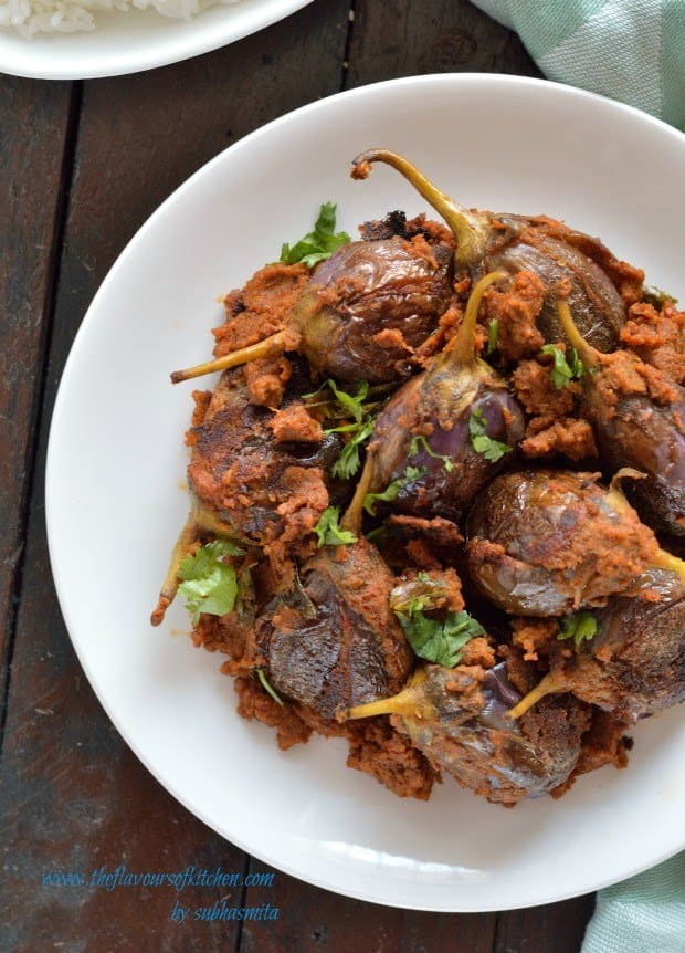 Bharwan baingan(stuffed eggplant with indian spices)