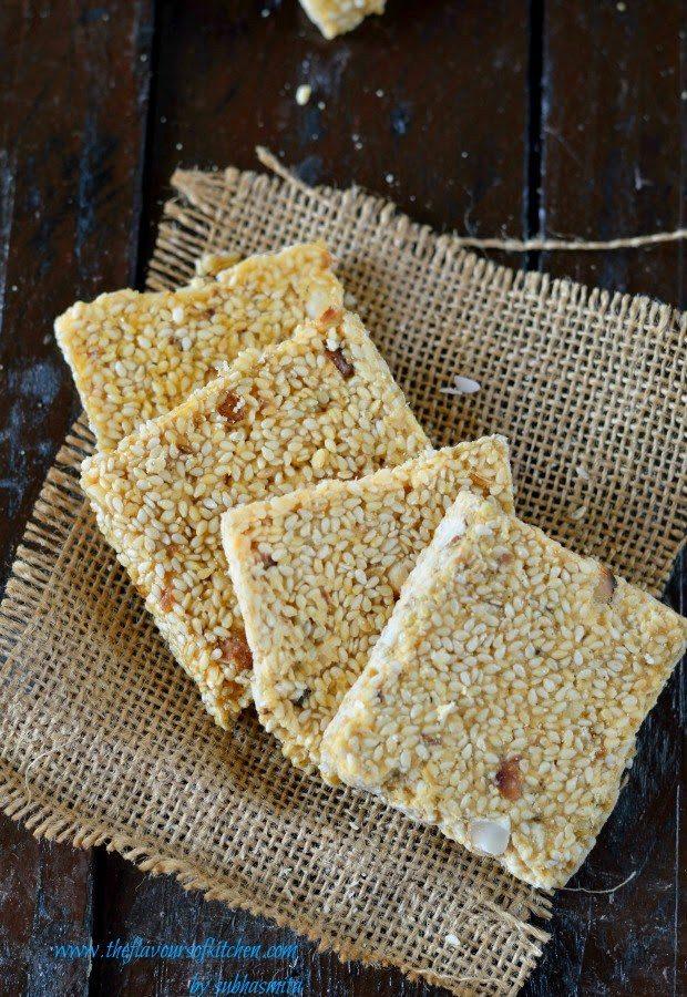 Til chikki – sesame seeds and nuts brittle