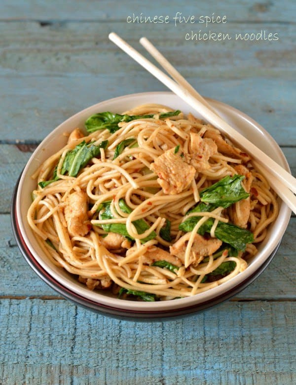 Chinese five spice chicken/tofu noodles