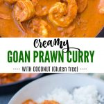 Goan Prawn curry made with roasted spices, fresh coconut and coconut milk is easy to make. This Prawn curry with Coconut is spicy, tangy with a hint of sweetness to it.