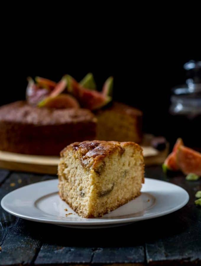 Honey Roasted Fig and Cardamom Cake