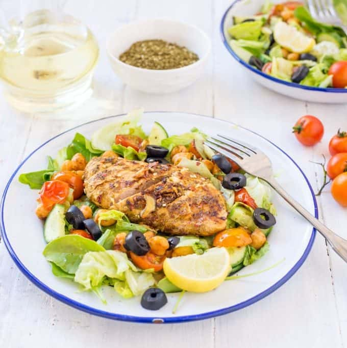 Za'atar Spiced Chicken Salad