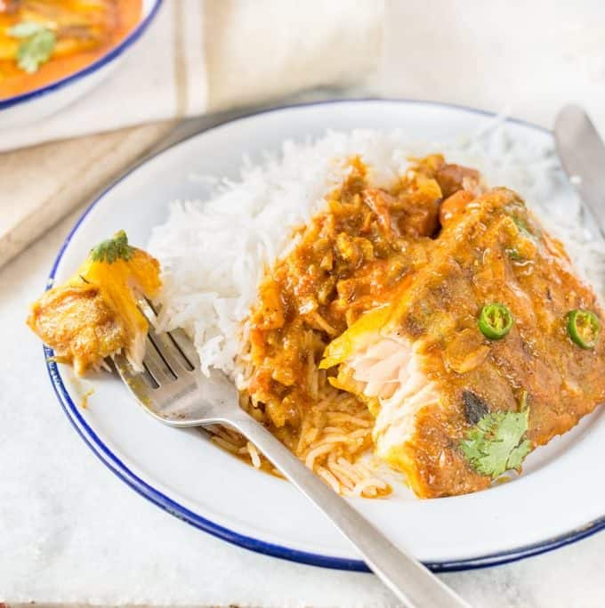 Fish In Curried Coconut Sauce