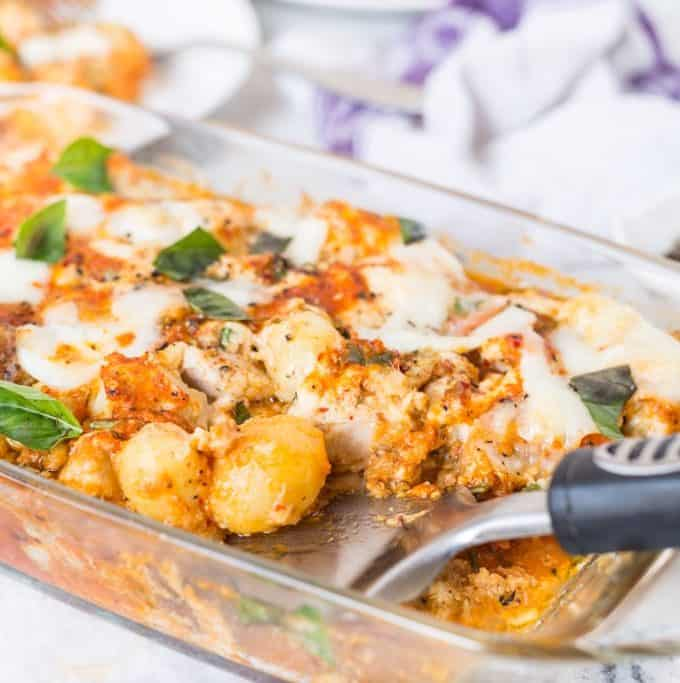 Italian Potato & Chicken Bake