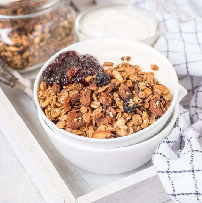 Peanut Butter And Chocolate Chip Whole Wheat Flakes Granola