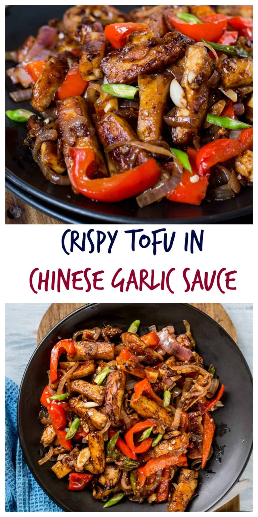 Crispy tofu in chinese garlic sauce crispy tofu in chinese garlic sauce step by step recipe video forumfinder Images