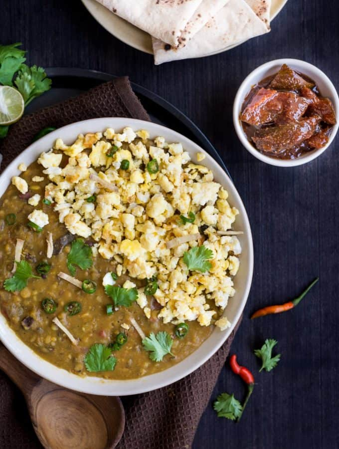 ANDA TADKA DAL DHABA STYLE – LENTIL STEW WITH SCRAMBLED EGG