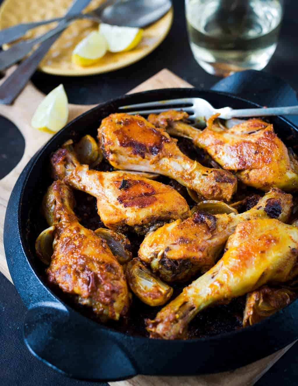 Curried Mayonnaise Roasted Chicken Drumsticks