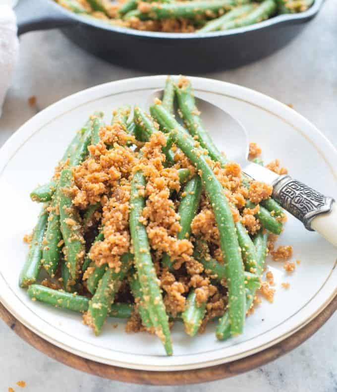 Green Beans with Peanuts,Coconut and Garlic