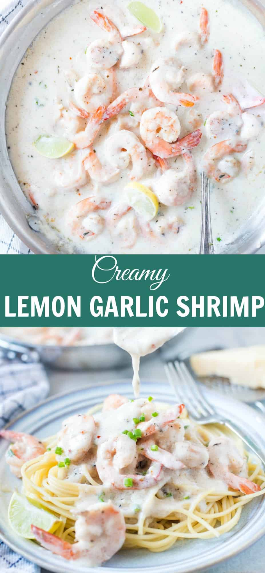 Creamy Lemon Garlic Shrimp