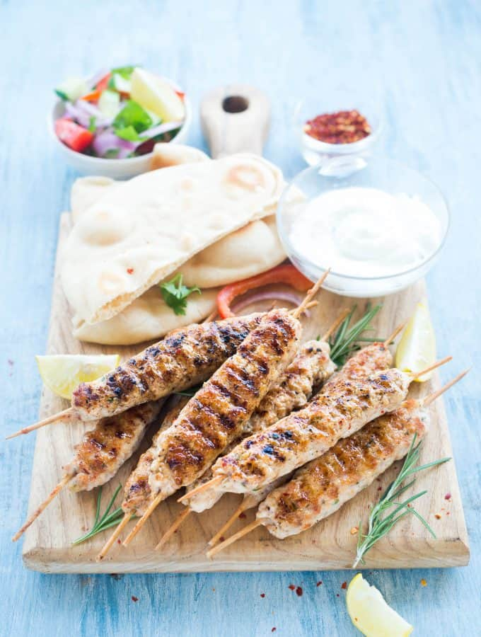 Grilled Rosemary Chicken Kebabs