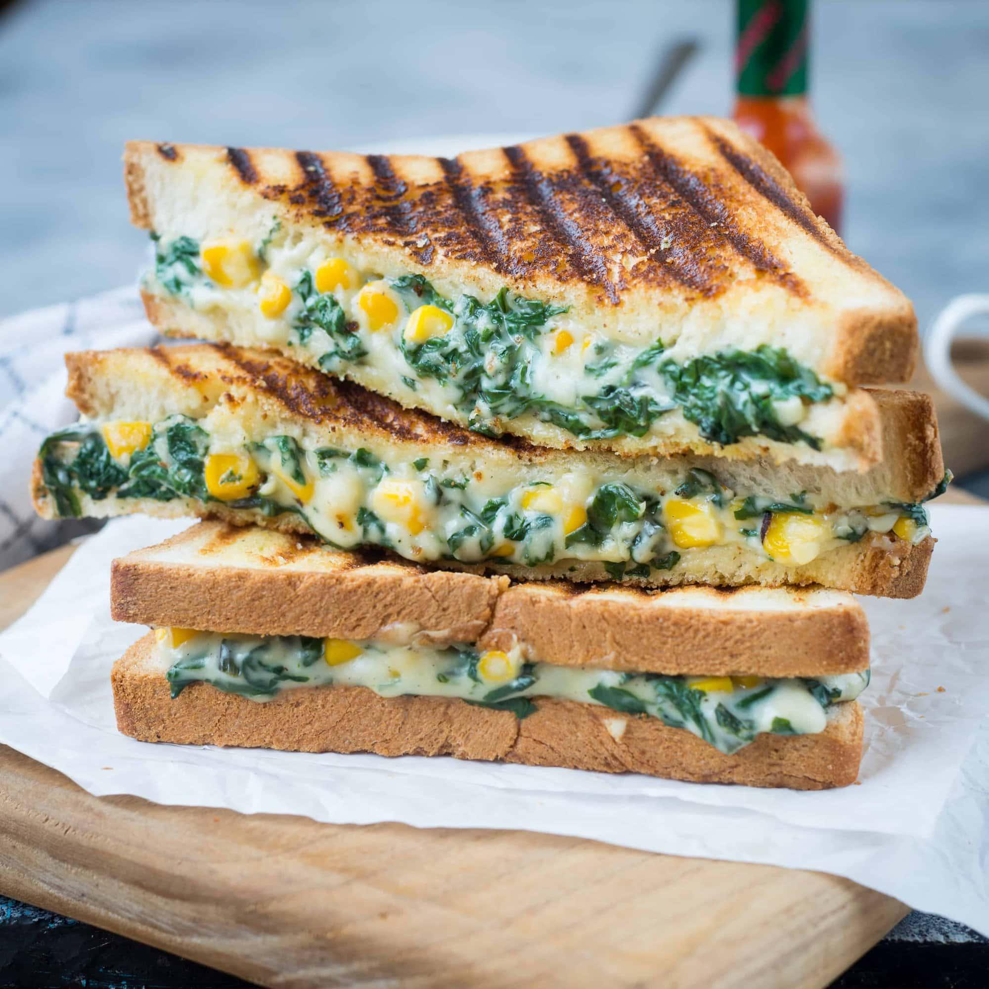 Spinach corn sandwich recipe spinach and corn sandwich recipe