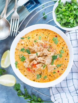 Mexican Chicken Soup - keto Low Carb