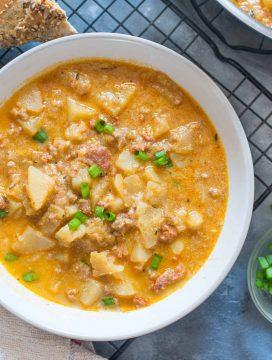 Creamy Chorizo Potato Soup