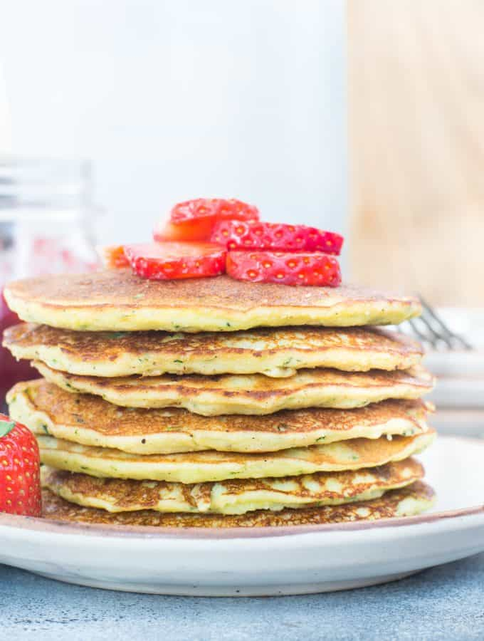 Keto Zucchini Coconut Flour Pancake
