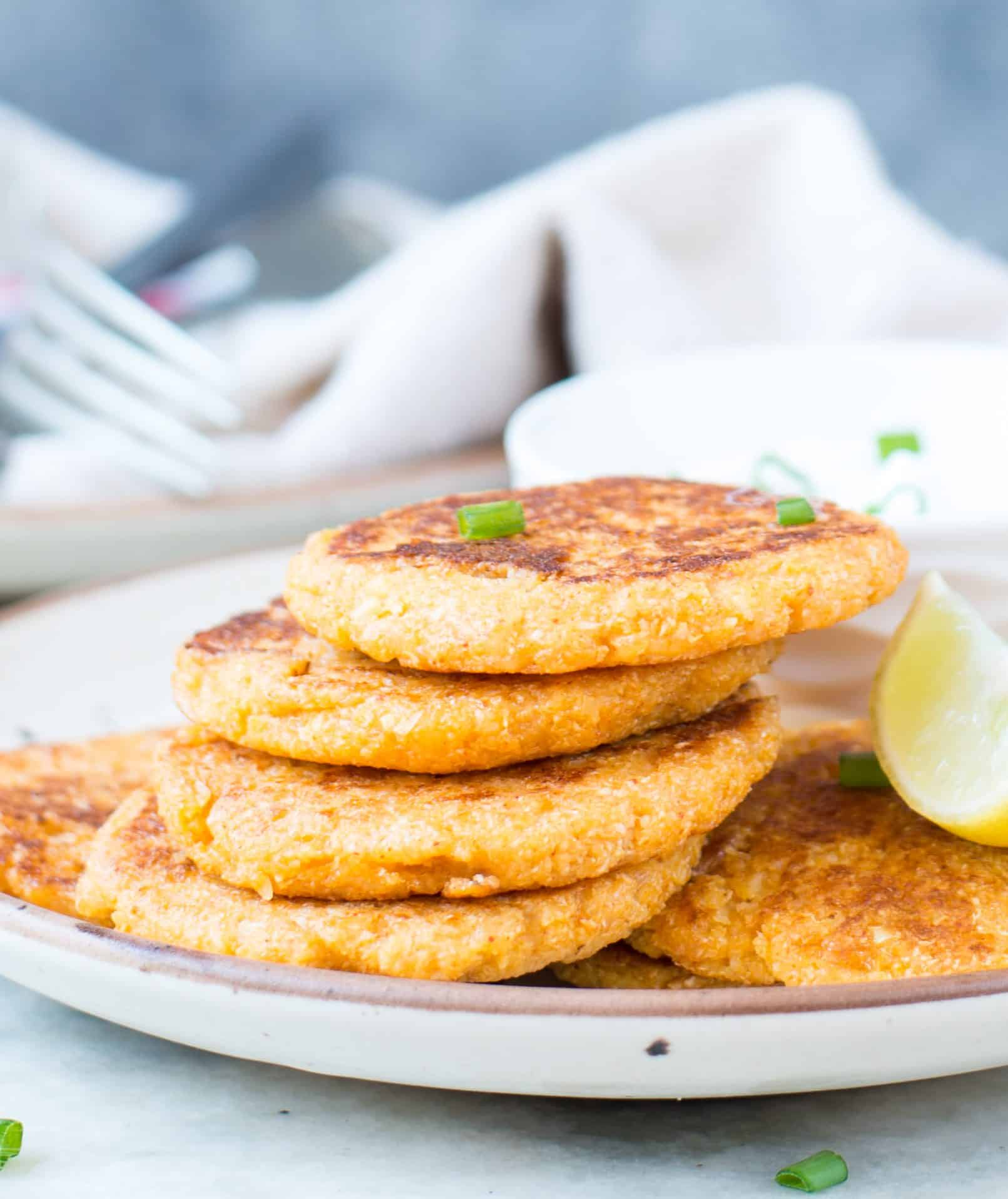 Low Carb Parmesan Cauliflower Fritters