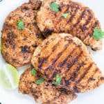 Chicken Breast marinated in Buttermilk, garlic, herb, spice marinade and grilled to perfection. This Easy Grilled Chicken Breast With Buttermilk Marinade is super moist and Juicy.Best for a quick weeknight dinner or for summer barbeques.