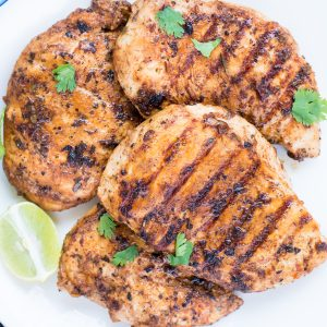 Chicken Breast marinated in Buttermilk, garlic, herb, spice marinade and grilled to perfection. This Easy Grilled Chicken Breast With Buttermilk Marinade is super moist and Juicy. Best for a quick weeknight dinner or for summer barbeques.