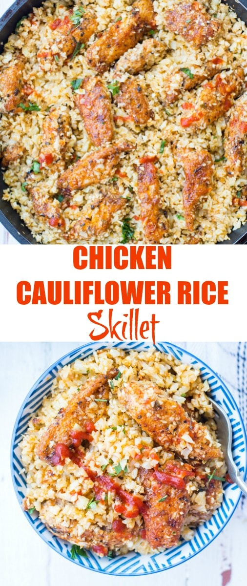 Low Carb Chicken Cauliflower Rice The Flavours Of Kitchen