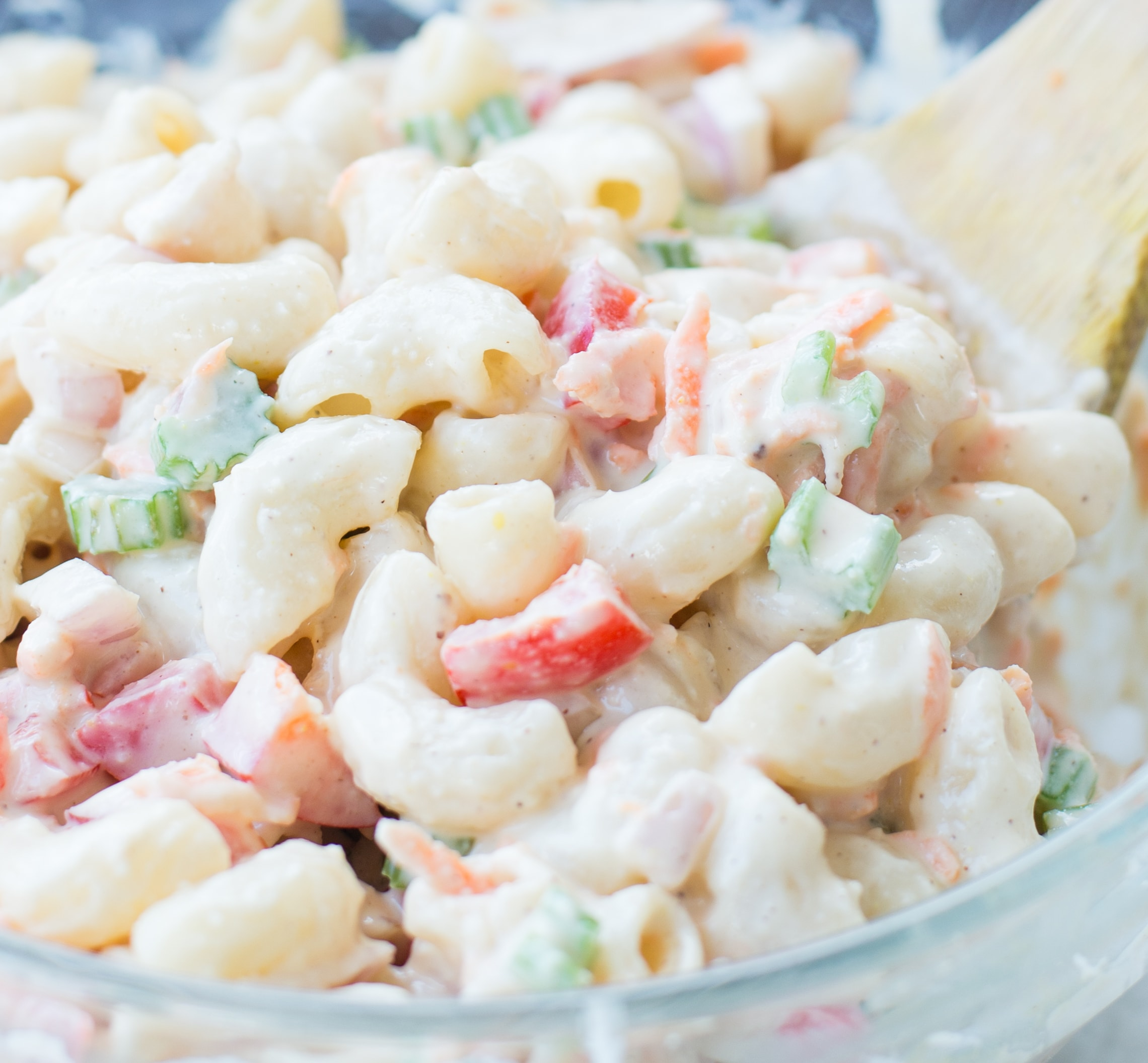 Delicious Vegan Macaroni Salad is a perfect side for Picnic, potluck or Barbecue. This Vegan Pasta salad is creamy with crisp vegetables and a lightTahini Cashew Dressing.
