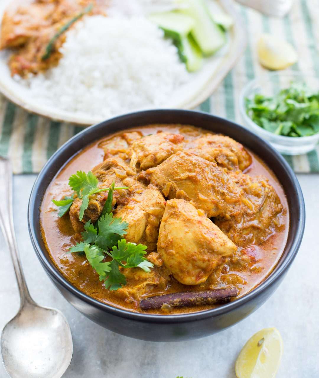 Slow Cooker Coconut Chicken Curry with amazing flavours is rich and creamy. Easy Indian Chicken Curry is made with freshly ground spices for best flavours.