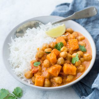 You need only 20 minutes to make this delicious Instant pot Sweet Potato Chickpea Curry. This fragrant and delicious Sweet Potato Curry made in the Instant Pot is Gluten-free and Vegan.