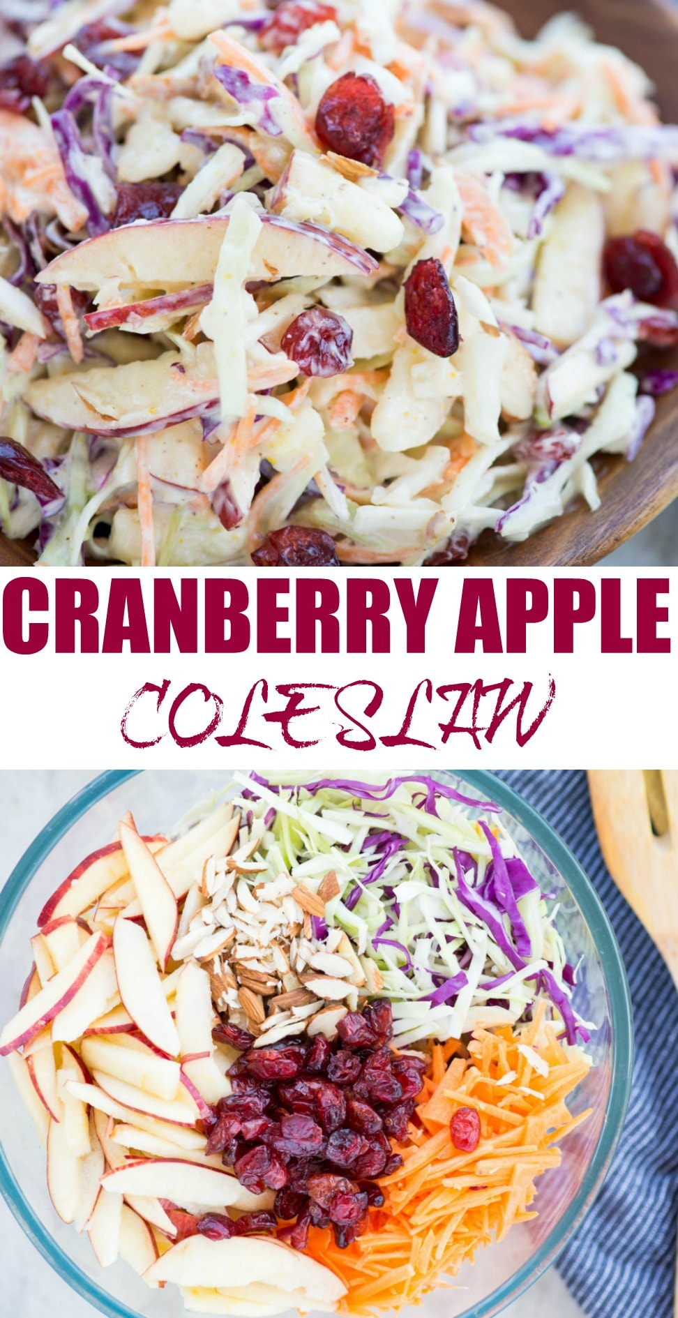 Crunchy apples, Cabbage, carrot, Tart Cranberries in a creamy dressing, this Apple Coleslaw or Apple Slaw is healthy and easy to make. A perfect side dish to serve and can be made in just 10 minutes.