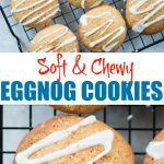 Soft Eggnog cookies with Eggnog Sugar glaze has the amazing flavour of eggnog and melt in the mouth. These eggnog cookies are perfect to ring in the holiday season.