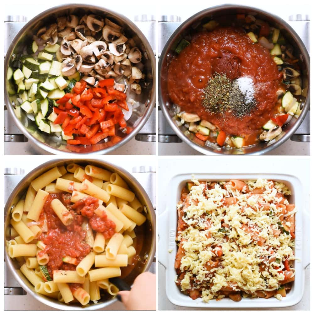 Steps to make Pasta with Vegetable.
