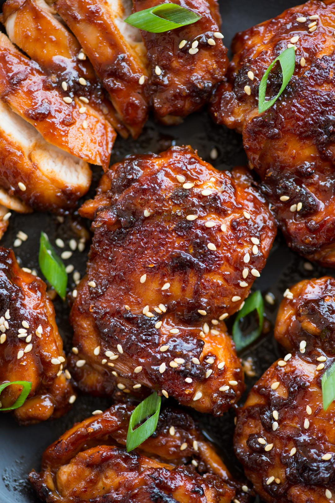 Korean Chicken made with Gochujang, soy sauce based marinade is bold in flavours and really easy to make. Chicken thigs coated in a sticky sweet and spicy sauce and cooked until juicy.