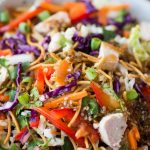 This Chinese Chicken Salad with Chicken, crunchy vegetables, crispy fried noodles and Asian Sesame dressing is a summer staple.