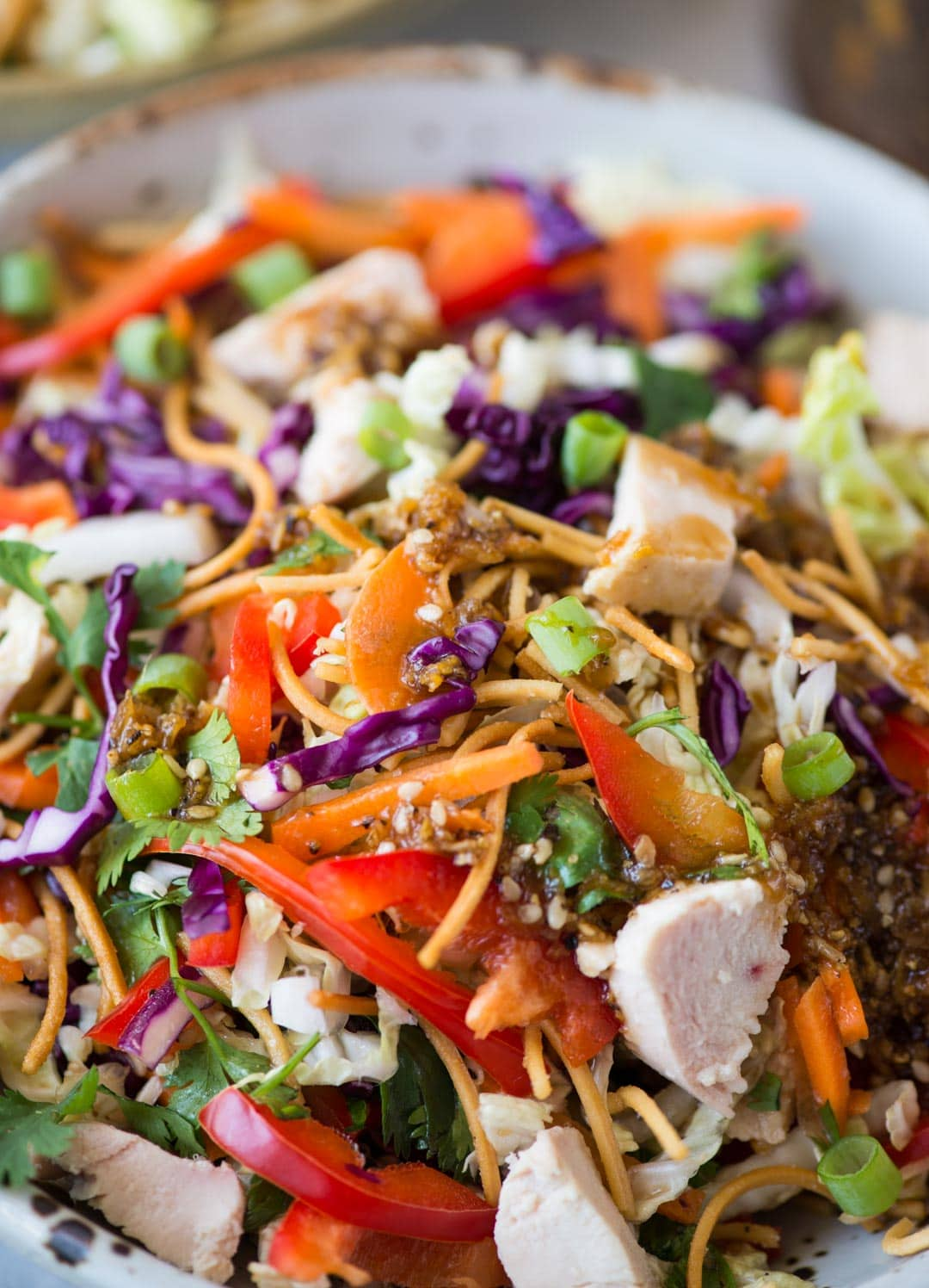 Chinese Chicken Salad With Sesame Dressing The Flavours Of Kitchen