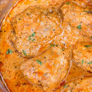 Instant Pot Chicken thighs in a creamy tomato sauce with juicy chicken thighs, buttery tomato sauce is incredibly delicious and takes less than 30 minutes to make.