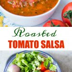 Fresh tomato salsa which has a depth of flavour from roasted tomatoes, jalapeno, fresh cilantro. It is spicy, tangy and perfect to dip your favourite tortilla chips into it.