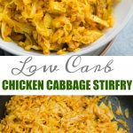 Simple Chicken and Cabbage stir fry with aromatics like garlic and curry powder is really quick to make. This Cabbage stir fry is delicious and low carb.