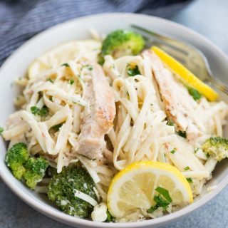 Lemon Chicken Broccoli Pasta with incredibly creamy lemon parmesan sauce is light and refreshing. A filling dinner ready in just 30 minutes.