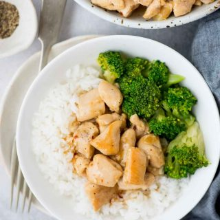 Honey Lemon Chicken, Tender Chicken coated with a zesty honey lemon sauce is really quick to make and is healthier than the regular version and also takes less than 15 mins to make.