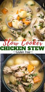 Homemade Crockpot Chicken Stew is loaded with vegetables and is gluten-free. Coconut milk makes it thick and creamy. It is the only comfort food you would need to cosy up to on a cold winter night.