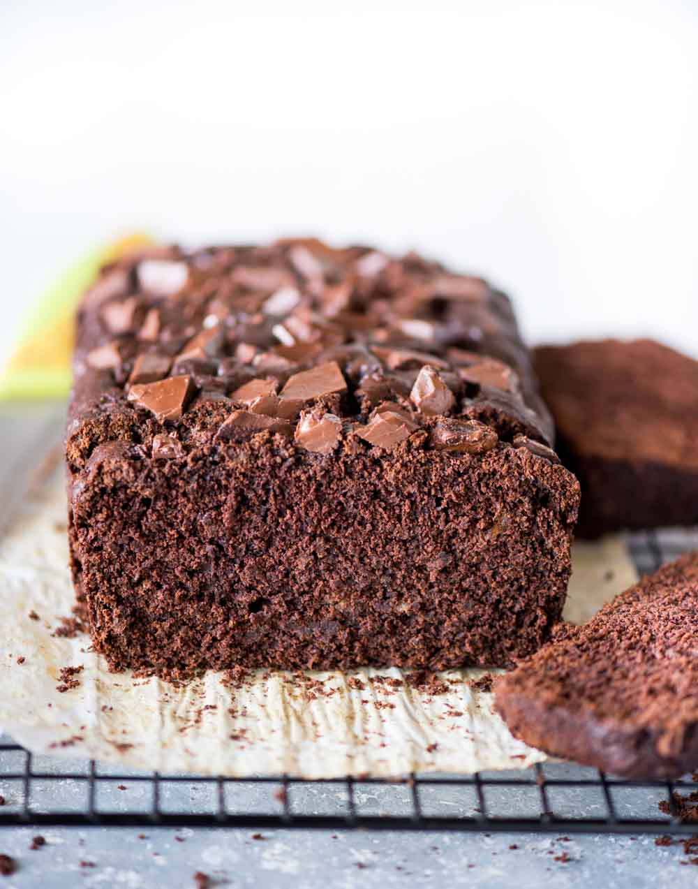 This chocolate banana bread is moist, fudgy and has the right balance of chocolate and banana flavour. With double the chocolate, every bite of this bread is such a treat.