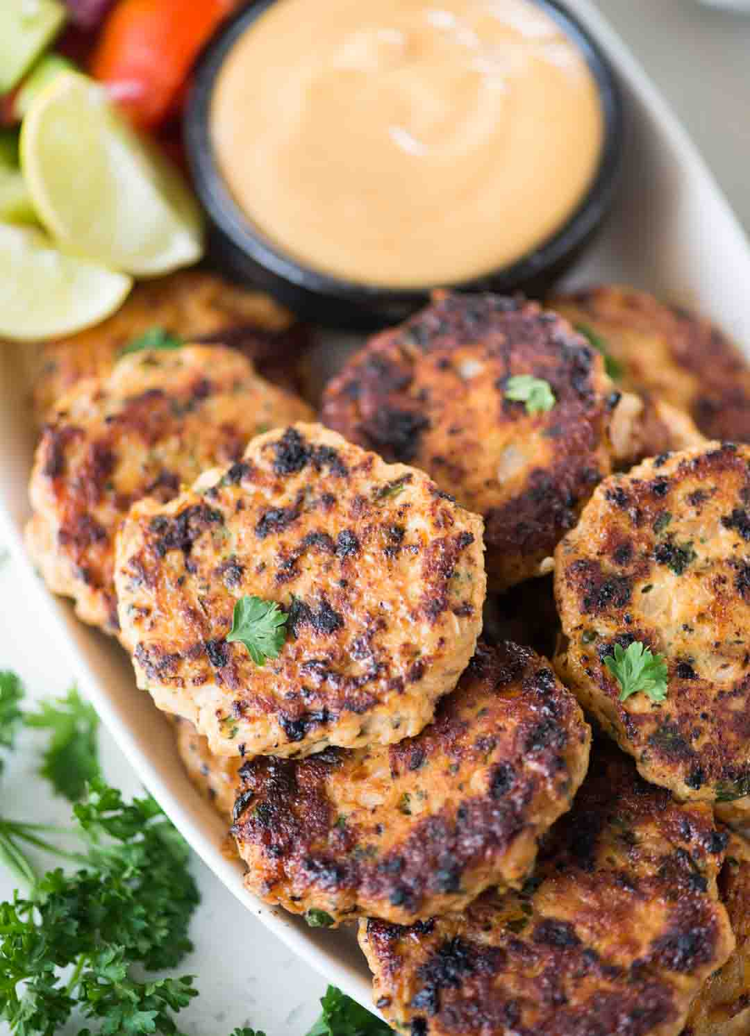 Juicy Chicken patties are easy and quick to make. Mildy spicy, flavourful and perfect to use in burgers, wraps, sandwich or serve as a snack as it is.