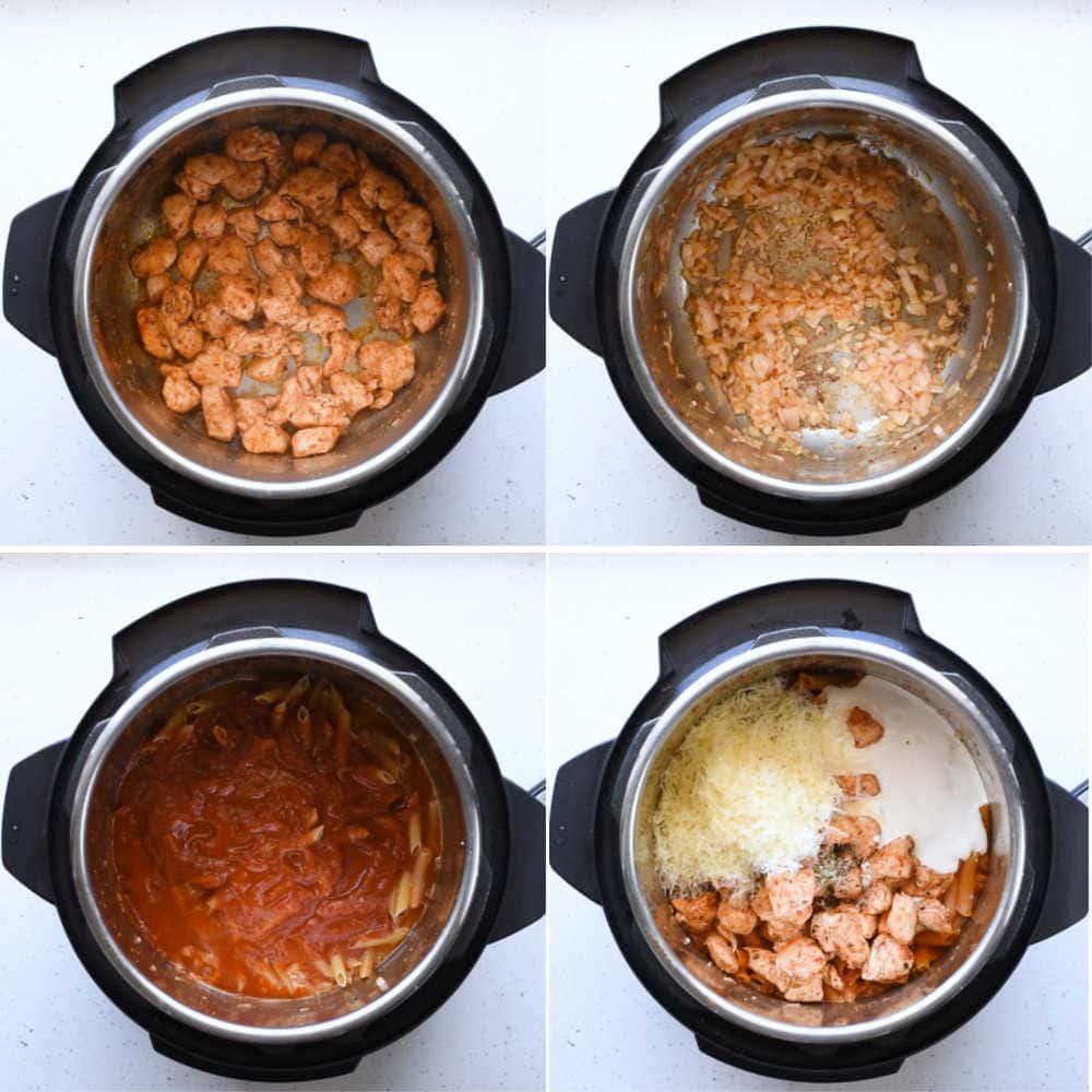 Steps to make Spicy Chicken Instant Pot Pasta