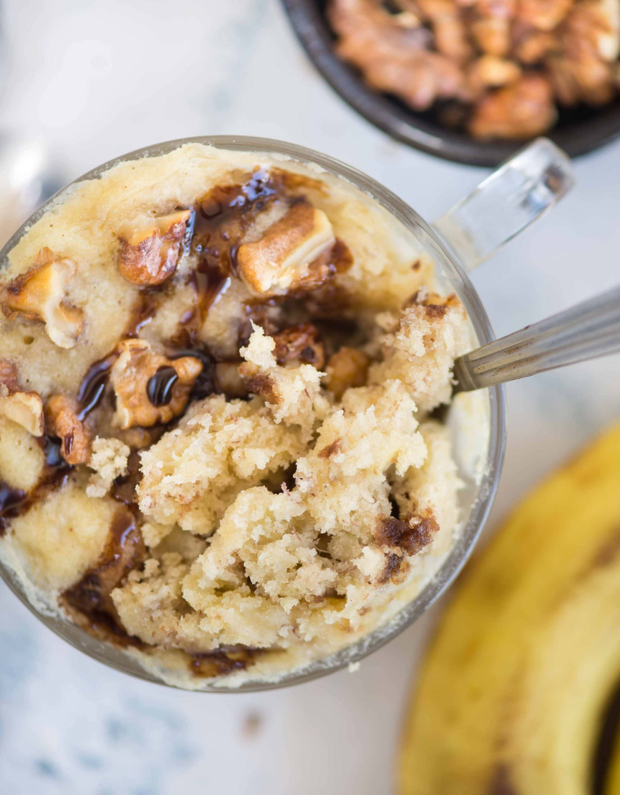 Microwave Banana Mug Cake The Flavours Of Kitchen