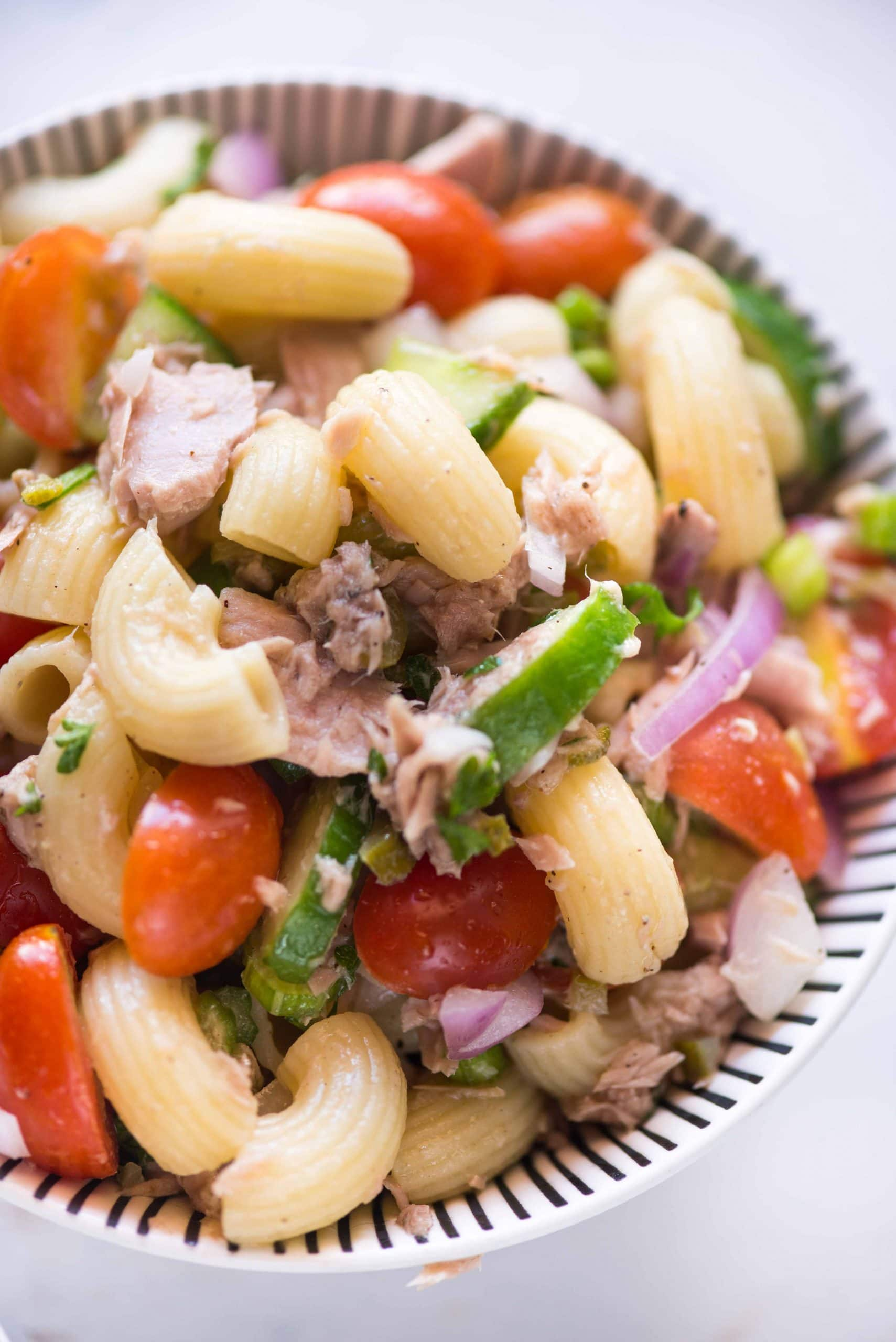 Cold Tuna Pasta Salad The Flavours Of Kitchen