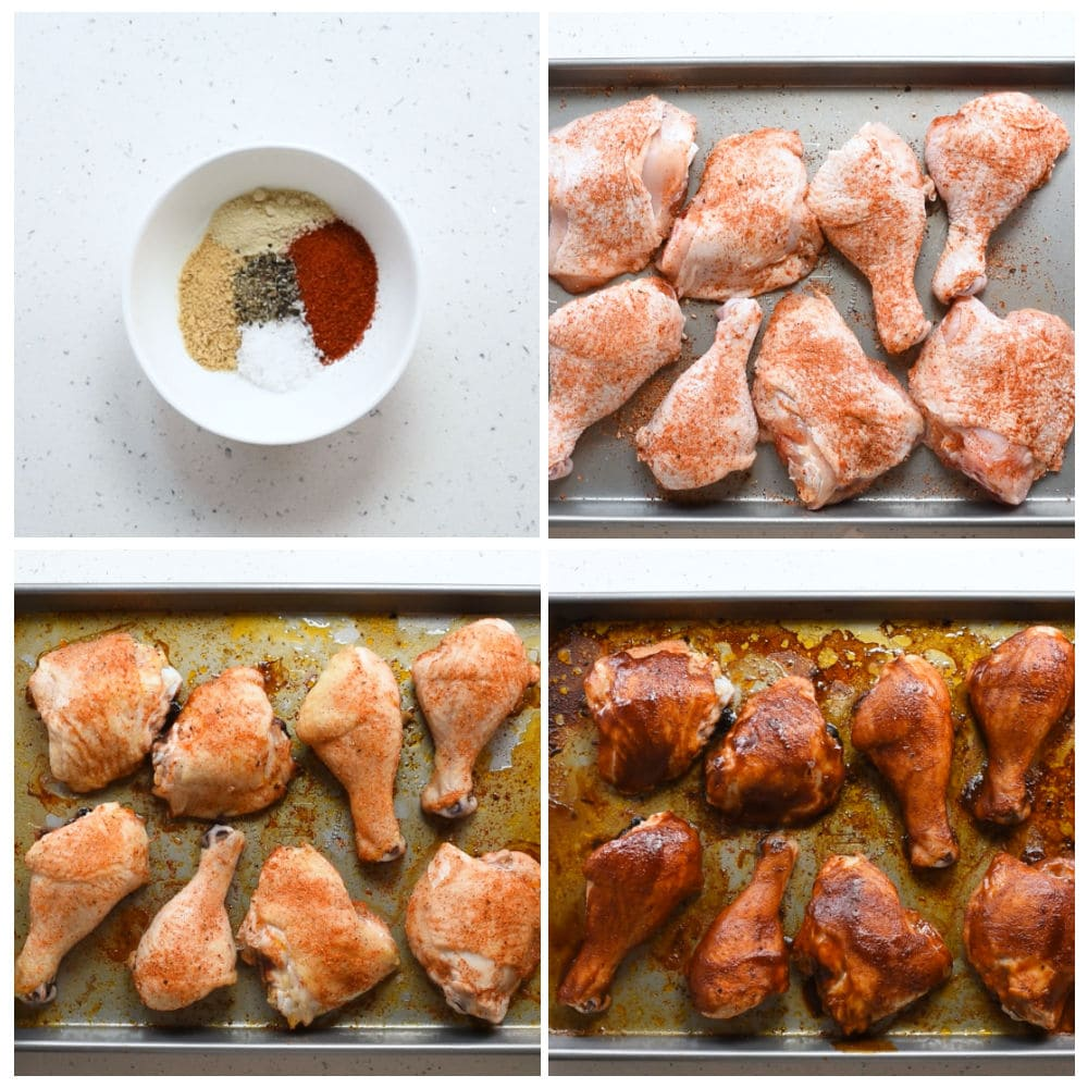 Steps to make BBQ chicken in the oven