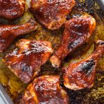 Sweet, smokey and perfectly Juicy, these Oven Baked BBQ Chicken has outdoor summer grilling vibes. Easy to make with a handful of ingredients and a family-friendly dinner for sure.