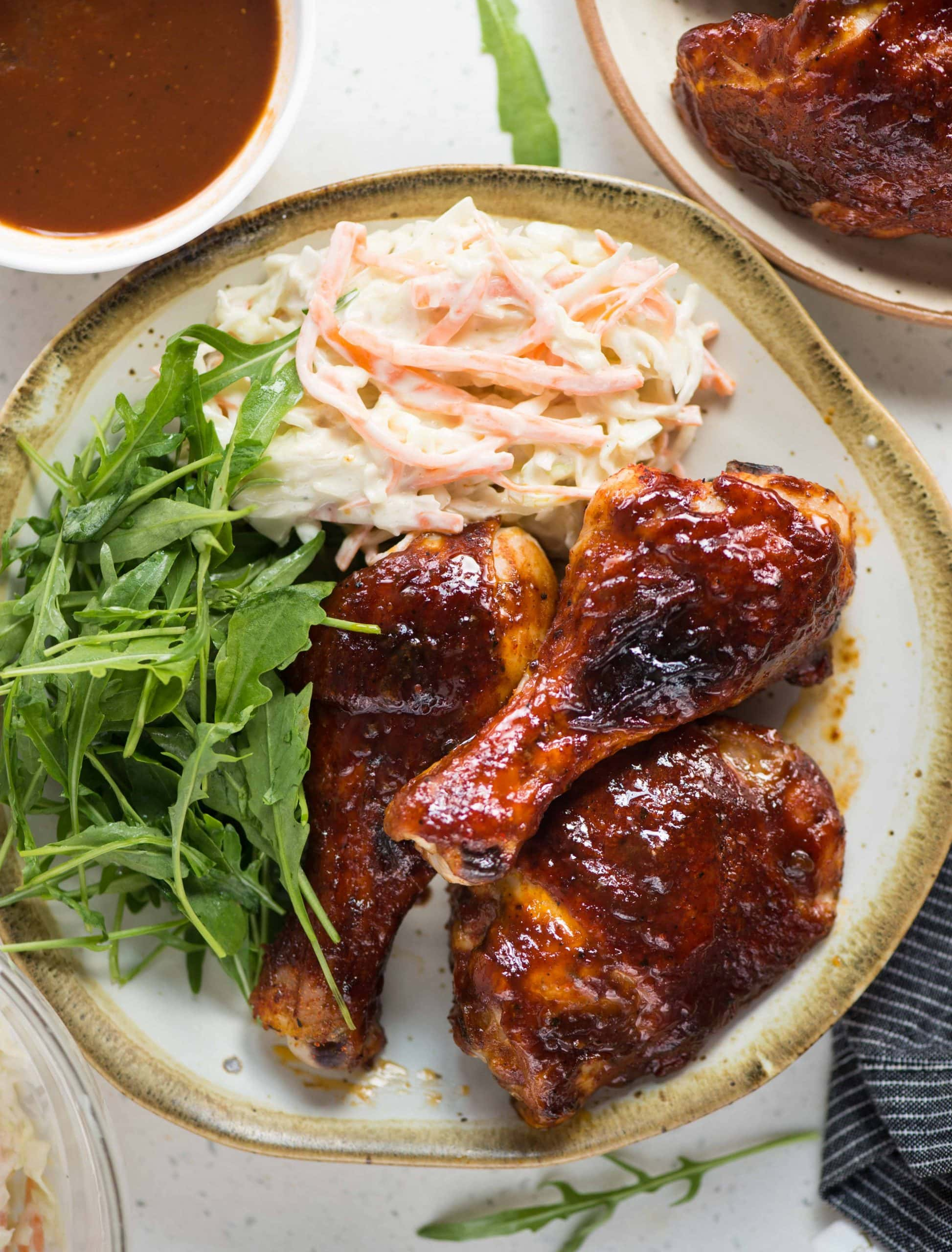 oven baked bbq chicken in 3 east steps.