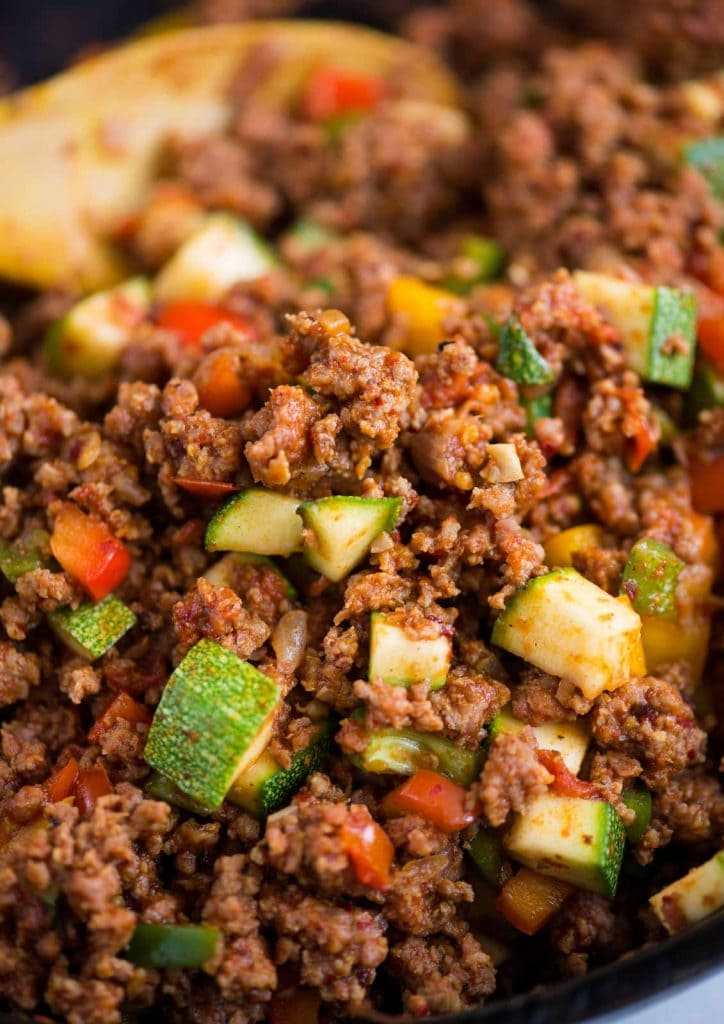 Healthy Ground Beef Vegetable Skillet Recipe The Flavours Of Kitchen